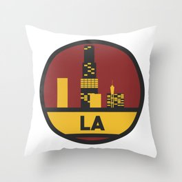 Los Angeles patch Throw Pillow