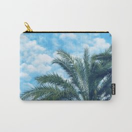 Big Blue Sky, Puffy Clouds, and Palm Trees Carry-All Pouch