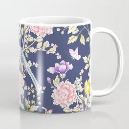 Chinoiserie Flowers and Birds Pattern Coffee Mug