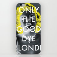 blondie iPhone & iPod Skins featuring Blondie by Justin Catron