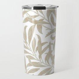 Delicate Leaf Pattern Travel Mug