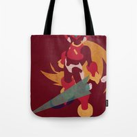 megaman Tote Bags featuring Megaman Zero by JHTY