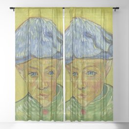 """Vincent van Gogh """"Portrait of Camille Roulin"""" Sheer Curtain"""
