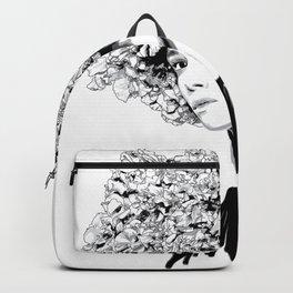 Fashion portrait illustration haute couture Valentino inspired design Backpack