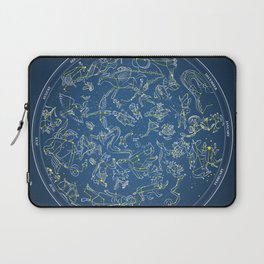 Constellations of the Northern Sky - Negative version Laptop Sleeve