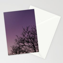 A bare tree in the sunset. Stationery Cards
