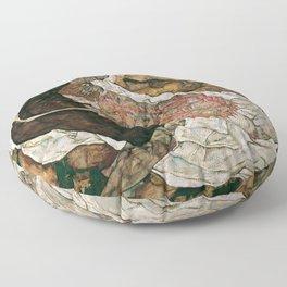 "Egon Schiele ""Death And The Maiden"" Floor Pillow"