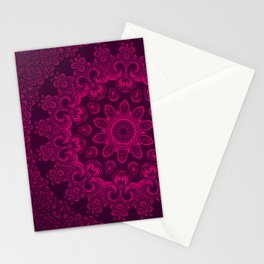 Mandala Magenta Stationery Cards