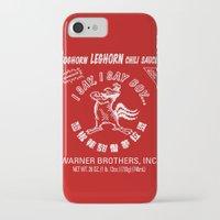 sriracha iPhone & iPod Cases featuring Foghorn Leghorn Sauce (White) by Huemanitee