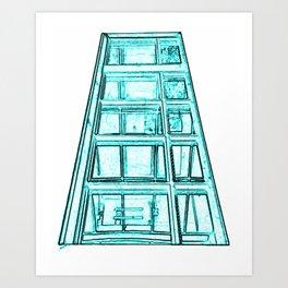 Glass Staircase Art Print