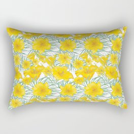 Yellow daylily flower pattern Rectangular Pillow
