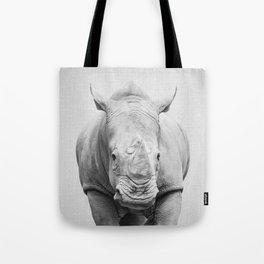 Rhino 2 - Black & White Tote Bag