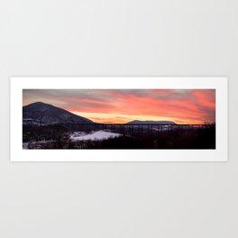 Firery Bridge Art Print