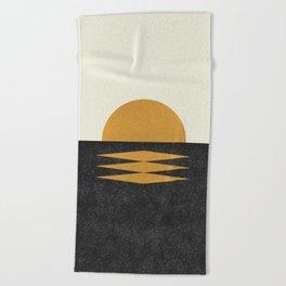 Sunset Geometric Midcentury style Beach Towel
