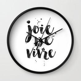 JOIE DE VIVRE, French Decor,French Quote,Dorm Room Decor,Home Decor,Modern Art,Girls Printable,Girls Wall Clock