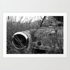 Nature reclaiming a vw squareback 01 Art Print