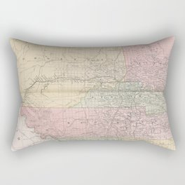Vintage Map of Alberta Canada (1912) Rectangular Pillow
