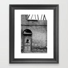 Abandoned [Black & White] Framed Art Print