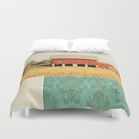 american beauty Duvet Covers featuring Heartland by Farmhouse Chic