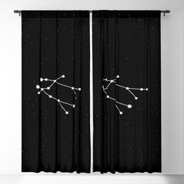 Gemini Star Sign Night Sky Blackout Curtain