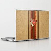 surfboard Laptop & iPad Skins featuring Waimea Hawaiian Surfboard Design by Drive Industries