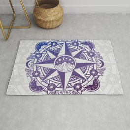 Journey to Moon Mountain | Ultra Violet Ombré Rug
