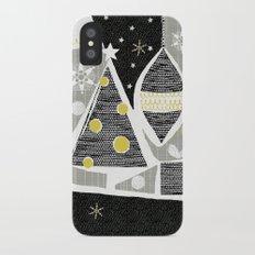 achromatic holidays iPhone X Slim Case