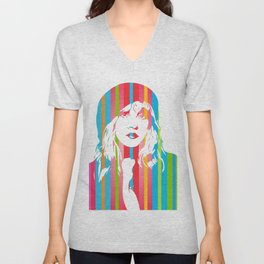 Stevie Nicks | Pop Art Unisex V-Neck