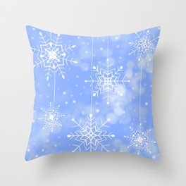 Snowy Christmas Throw Pillow