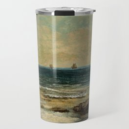 The sea in Palavas by Gustave Courbet Travel Mug