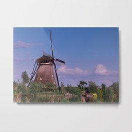 Evening In Kinderdijk Metal Print