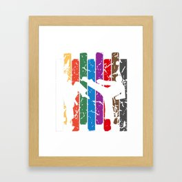 Retro Karate Silhouette Framed Art Print