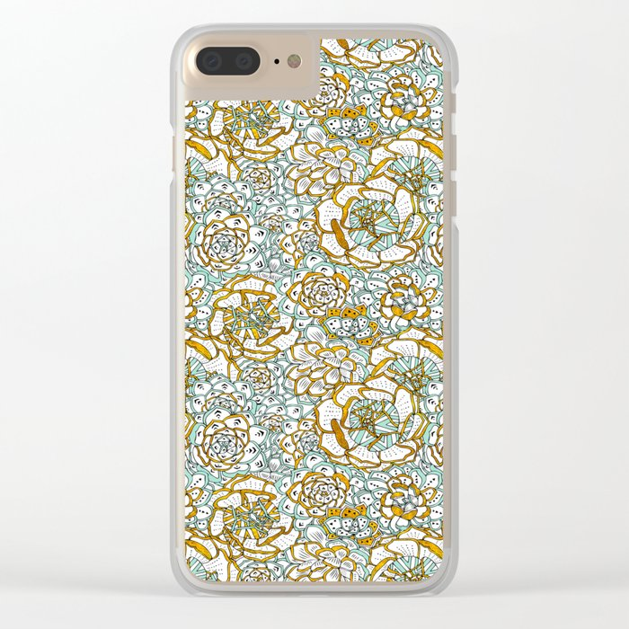 Succulents Garden Clear iPhone Case