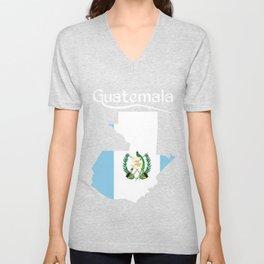 Guatemala Quetzal Chapin Guate Antigua Tikal Maya Puchica Gift Retro Unisex V-Neck