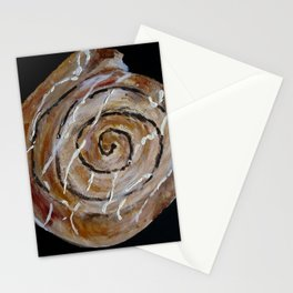Cinnamon Swirl Bakery Still Life Acrylic Painting Stationery Cards