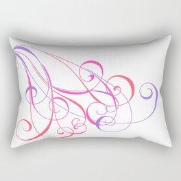 Color Cascade Rectangular Pillow