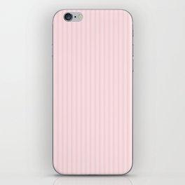 Pale Millennial Pink Pastel Color Mattress Ticking Stripes iPhone Skin
