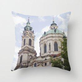 Church in Prague Throw Pillow