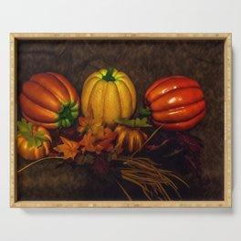 Autumn Pumpkins Serving Tray