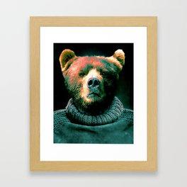 Working Bear Framed Art Print