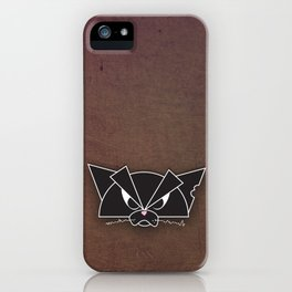 Crabby Cat - black iPhone Case