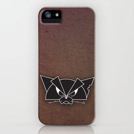 Crabby Cat - black iPhone Case