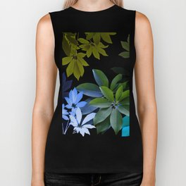 Leaves, Botaical Composition Biker Tank
