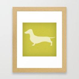 White Recycled Dachshund Framed Art Print