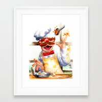 swedish Framed Art Prints featuring Swedish chef by Roger Cruz