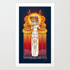 Supreme Being Art Print