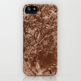 Wooden Cherry Blossom Impressions iPhone Case