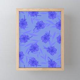 Anemone Field Blue Framed Mini Art Print