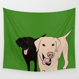 Tanner and Lily Best Labrador Buddies Wall Tapestry