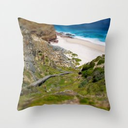 down the beach path Throw Pillow